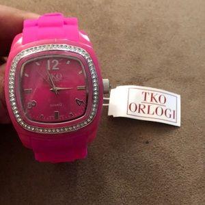 Pink TKO Orlogi watch as is